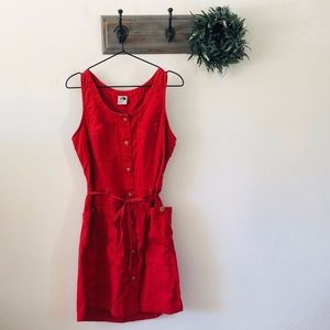The North Face Red Shirt Dress M